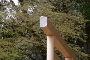 八柱神社の真新しい鳥居(大紀町阿曽)