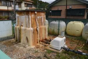 阿曽温泉の温泉汲み上げ施設