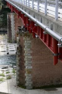 落瀬橋(大内山川)の橋脚