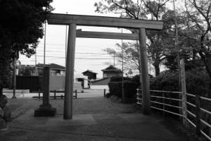 船江上社の鳥居(伊勢市船江)
