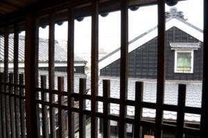 母屋の二階からの風景(伊勢河崎商人館)