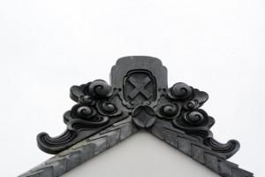 弐の蔵の鬼瓦(伊勢河崎商人館)