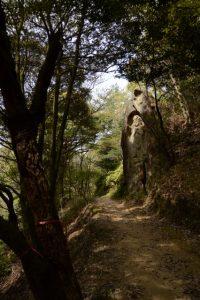 県指定文化財 彫刻 磨崖 聖観音立像(石山観音)