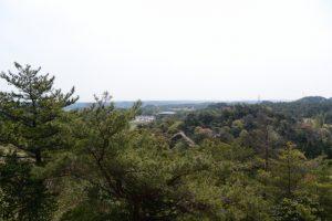 馬の背からの眺望(石山観音公園)