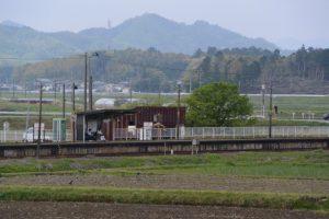 JR参宮線 外城田駅の遠望