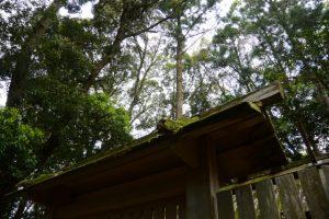 修繕される朽羅神社(皇大神宮 摂社)