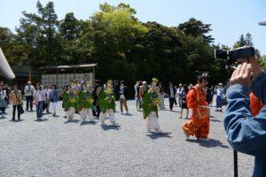 春季神楽祭 神宮舞楽(内宮神苑特設舞台)