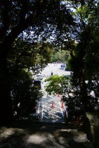 大水神社(皇大神宮 摂社)付近の石段