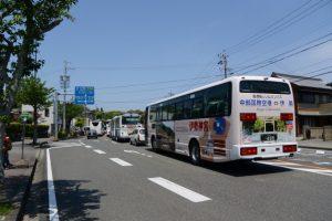猿田彦神社前 バスのりば付近で見かけた『中部国際空港⇔伊勢』リムジンバス