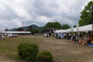 「東作さんと藤まつり」の準備(野原公園)