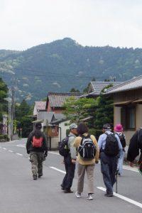 JR栃原駅付近からの水神山遠望