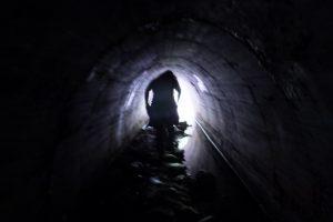 馬鹿曲り入口の暗渠(熊野古道伊勢路)
