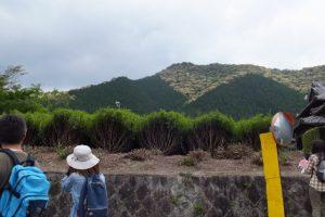 神瀬多種神祠付近から遠望した浅間山(熊野古道伊勢路)
