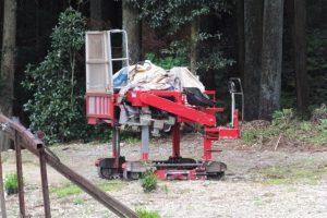 茶摘み機械の遠望