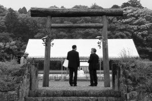 神宮神田の祭場へ(伊勢市楠部町)