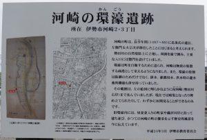 「河崎の環濠遺跡」説明板