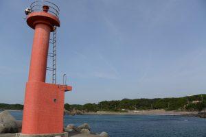 国崎港南防波堤灯台付近から遠望した老の浜(鳥羽市国崎町)
