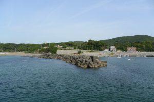 老の浜と国崎漁港(鳥羽市国崎町)