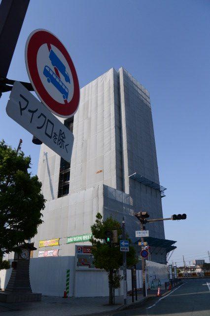 建築中の(仮称)三交イン伊勢市駅前