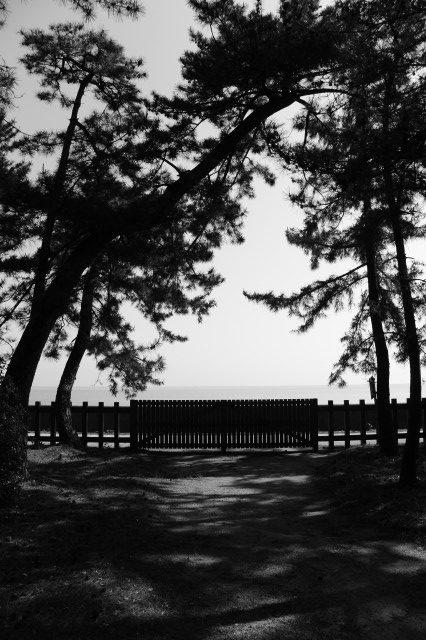 通常は閉ざされている二見浦海岸側の出入口(御塩殿神社)