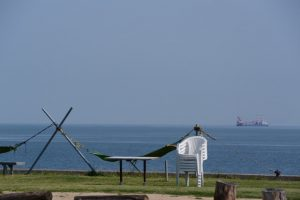 二見浦海水浴場付近からの風景