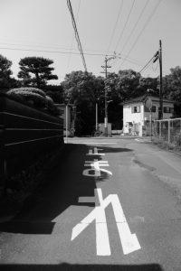 国道42号の向こうは堅田神社(皇大神宮 摂社)