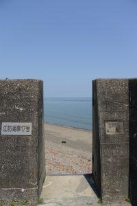 江防潮扉17号(国道42号沿い)