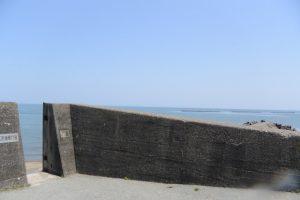 江防潮扉17号と突堤