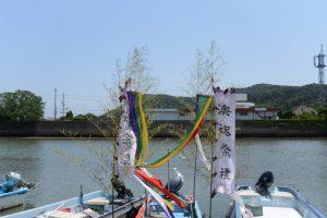 江漁港から神前神社方向の遠望