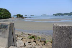 松下1号角落し付近の海岸