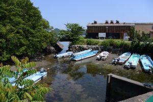 伊勢湾漁協 池の浦釣り筏案内所付近