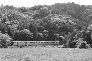 江神社(皇大神宮 摂社)付近からのJR参宮線遠望
