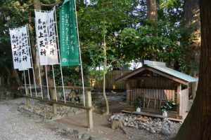 場所が移動されていた山ノ神(上社)