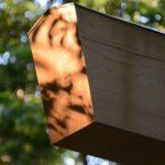 夕日に映える打懸神社(豊受大神宮末社)の鳥居