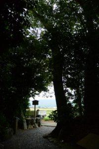 大修繕中の朽羅神社(皇大神宮 摂社)