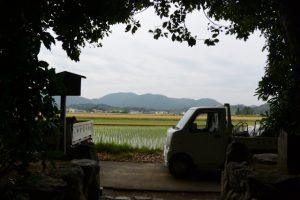 大修繕中の朽羅神社(皇大神宮 摂社)からの風景