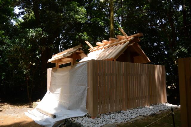 大修繕がほぼ終了となった朽羅神社(皇大神宮 摂社)