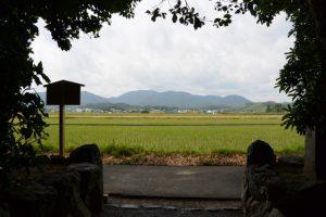 大修繕を終えた朽羅神社(皇大神宮 摂社)からの風景