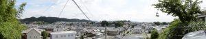 天神丘から望む浦口・二俣・辻久留の風景(パノラマ)