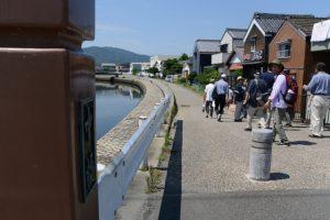 中橋付近(河崎環濠痕跡巡りツアー)