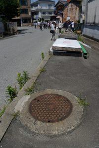 ここは公園、暗渠となった清川(清浄坊橋付近)