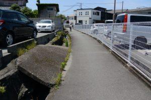 「河崎の環濠遺跡」説明板付近から河邊七種神社へ