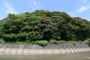 朝熊川から眺める朝熊神社(皇大神宮 摂社)の社叢