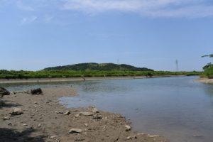 五十鈴川と朝熊川の合流点付近