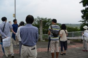 宮川堤の石柱(度会橋東詰駐車場)