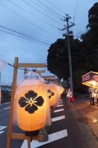 赤崎祭(ゆかた祭り)当日の赤崎神社付近