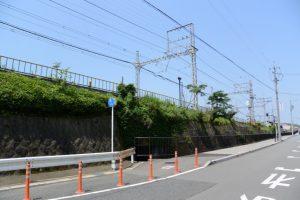 近鉄山田線沿い、清川の流れ(伊勢パールピアホテル脇)