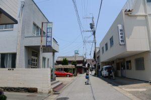 播田屋付近(河崎本通り)