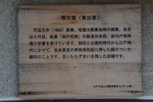 播田屋(東出家)の説明板