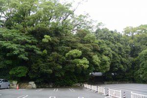 内宮A1駐車場からの望む饗土橋姫神社(皇大神宮 所管社)方向